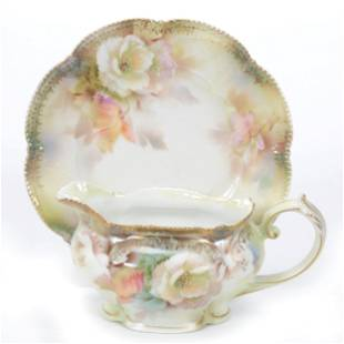 Gravy Boat And Underplate Marked R. S. Prussia