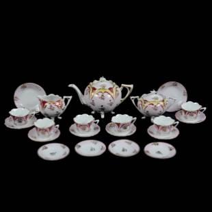 Child's Tea Set, Unmarked Prussia, (15) Piece