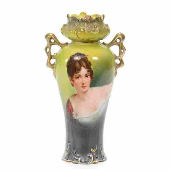 Vase Marked Royal Vienna, Recamier Portrait