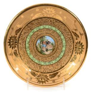 Pedestal Plate Marked R.S. Tillowitz
