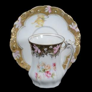 Chocolate Cup And Saucer, R.S. Steeple Mark