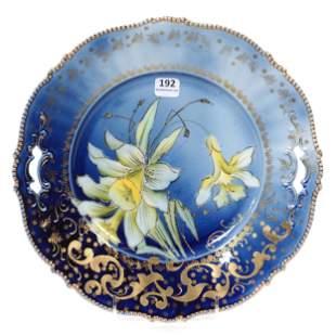 Cake Plate Marked Saxe Altenburg