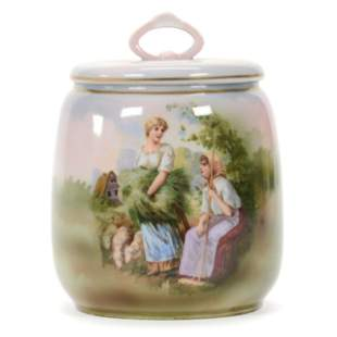 Covered Jar Marked R.S. Germany