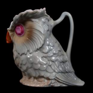 Creamer, Royal Bayreuth (Blue Mark), Figural Owl