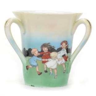 Loving Cup, Royal Bayreuth (Blue Mark), Three Handles