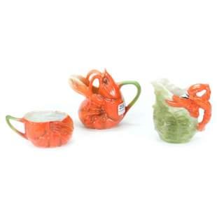 (3) Royal Bayreuth Lobster Items