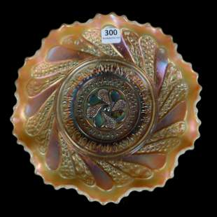 Carnival Glass Bowl, Roundup By Dugan