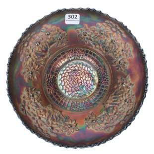 Carnival Glass Bowl, Orange Tree By Fenton