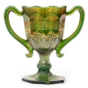 Carnival Glass Loving Cup, Orange Tree By Fenton