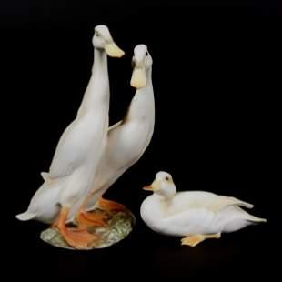 (2) Kaiser Porcelain Duck Figurines