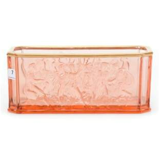 Window Box Planter, Pink Depression Glass