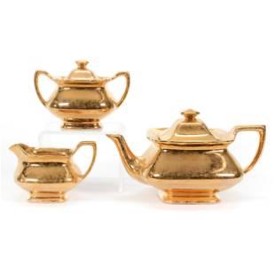 Tea Set Marked Lady Hamilton 22k Gold Overlay