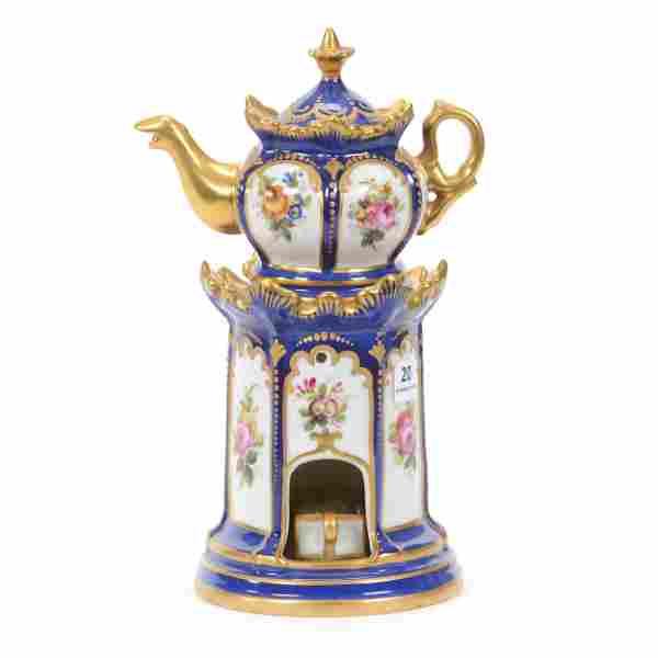 Modern Sevres Tea Warmer Set, Four Piece