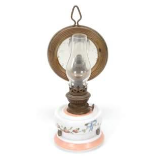 Victorian Era Wall Lamp, Decorated Bristol Font