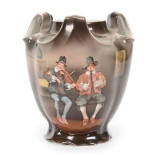 Vase, Three Handles, Royal Bayreuth (Blue Mark)
