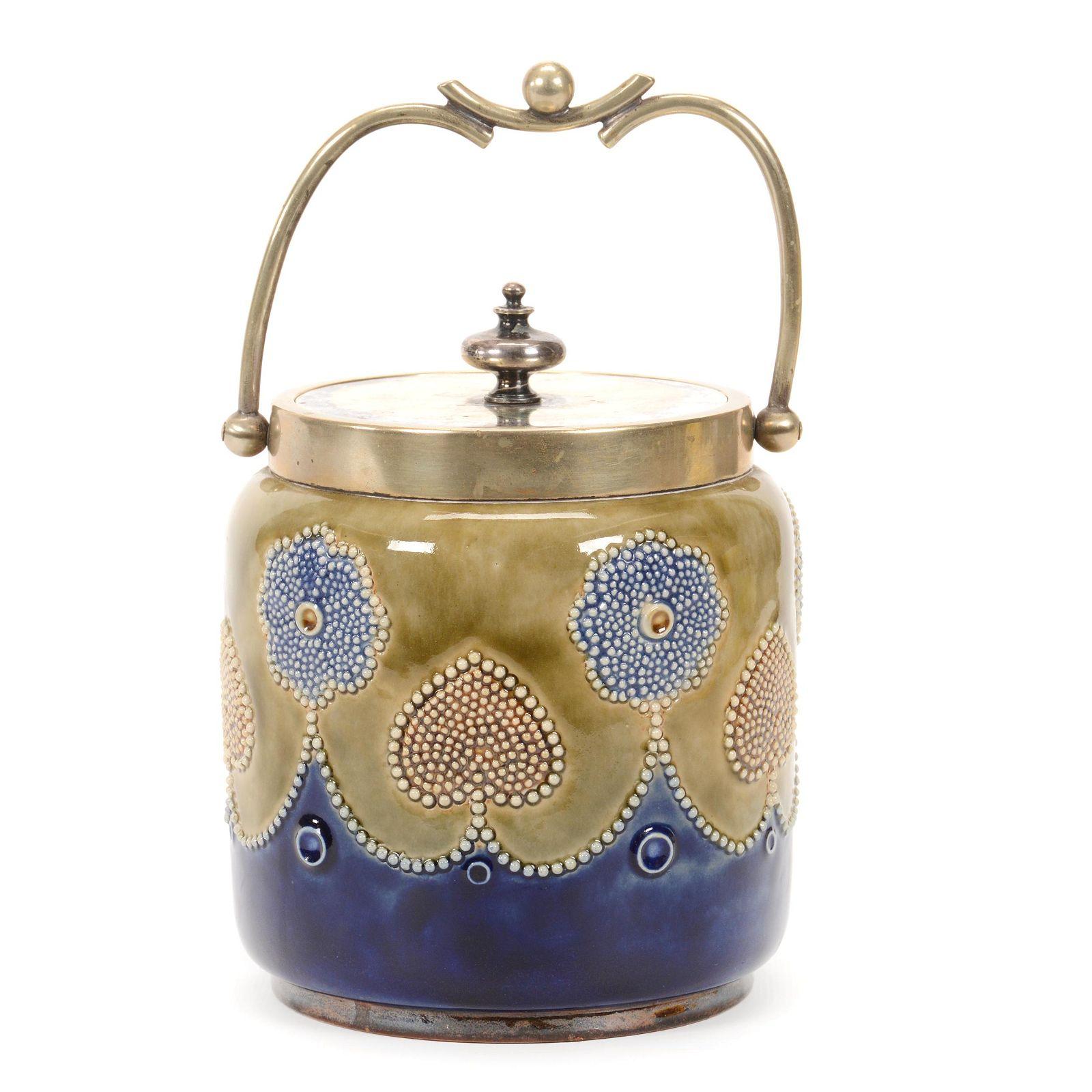 Biscuit Jar Marked Royal Doulton #1764