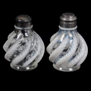 Salt & Pepper Shakers, White Opalescent