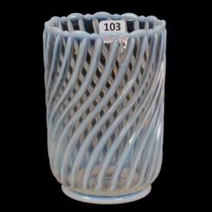 Celery Vase, Clear Opalescent EAPG
