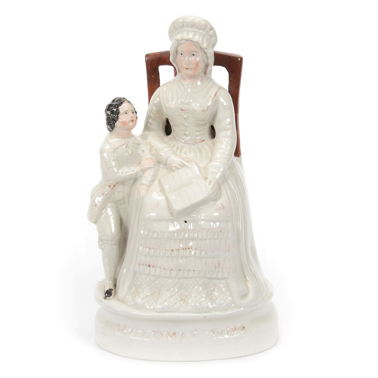 Figural Group, Unmarked Staffordshire