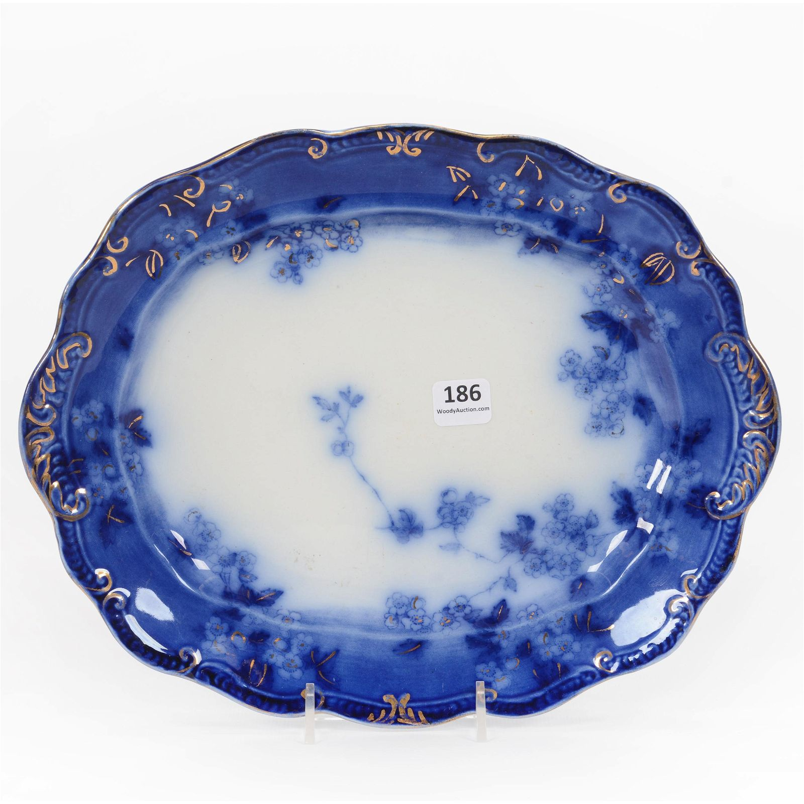 Tray, Flow Blue Lugano Pattern