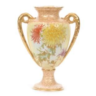 Pedestal Vase, Two Handles, Stoke On Trent