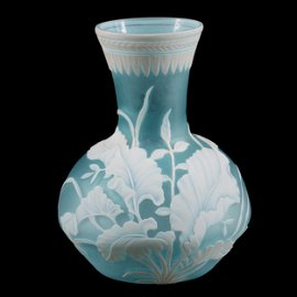 Vase, English Cameo Art Glass