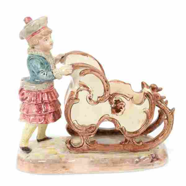 Majolica Figural Candy Dish #1030