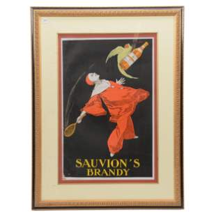 Framed And Matted Advertising Lithograph