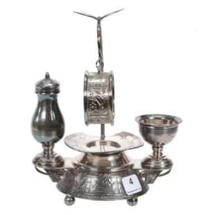 Condiment Set, Victorian Silverplate