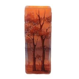 Vase Signed Daum Nancy French Cameo Art Glass