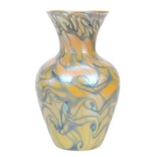 Vase Signed Quezal Art Glass