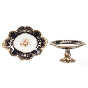 (2) Unmarked English Porcelain Items