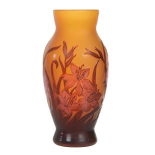 Reproduction Vase Marked Tip Galle French Cameo