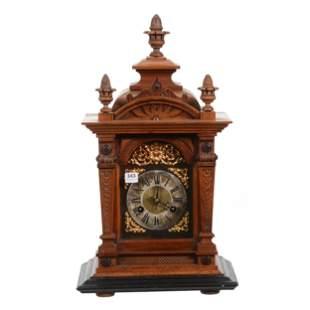 Clock, Walnut Case, Ebony Trim, Junghans Works