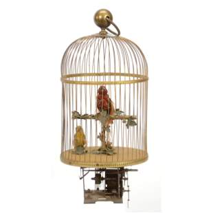 Large Mechanical Victorian Bird Cage
