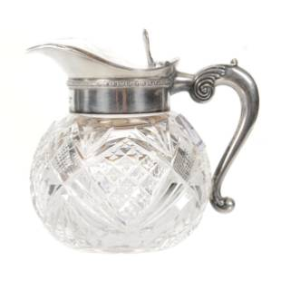 Syrup Pitcher, American Brilliant Cut Glass