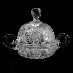 Covered Butterdish, ABCG, Two Handles
