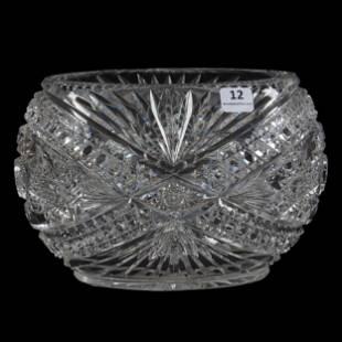 Oval Vase, Brilliant Period Cut Glass