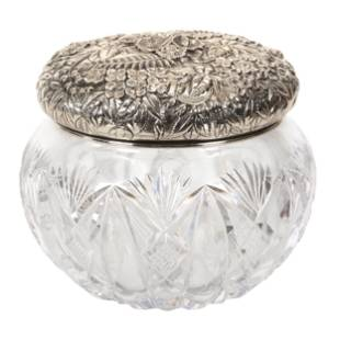 Covered Jar, American Brilliant Cut Glass