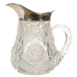 Water Pitcher, ABCG, Sterling Rim And Spout