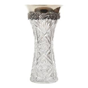 Vase, American Brilliant Cut Glass