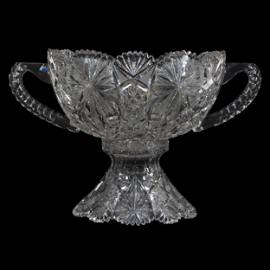 Pedestal Punch Bowl, ABCG, Two Part, Two Handles