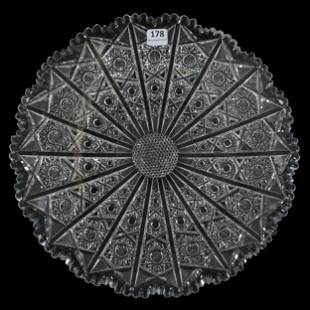 Round Tray, Brilliant Period Cut Glass
