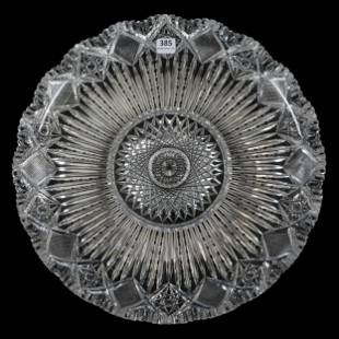 Round Tray, American Brilliant Cut Glass