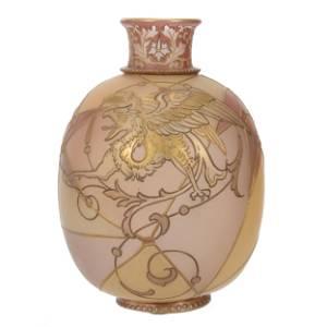 Vase, Unmarked Royal Flemish By Mt. Washington
