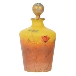 Perfume Signed Daum Nancy French Cameo Art Glass