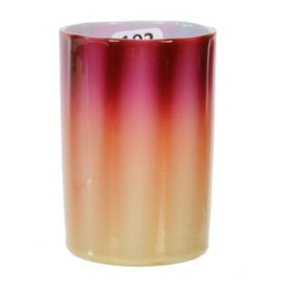 Tumbler, Plated Amberina Art Glass By New England