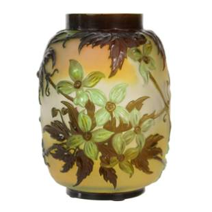 Vase, Signed Galle French Cameo Art Glass
