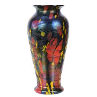 Vase, Unmarked Fenton Mosaic Art Glass
