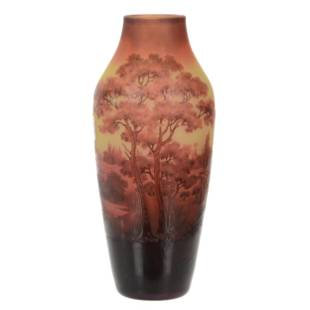 Vase, Signed D'Argental French Cameo Art Glass